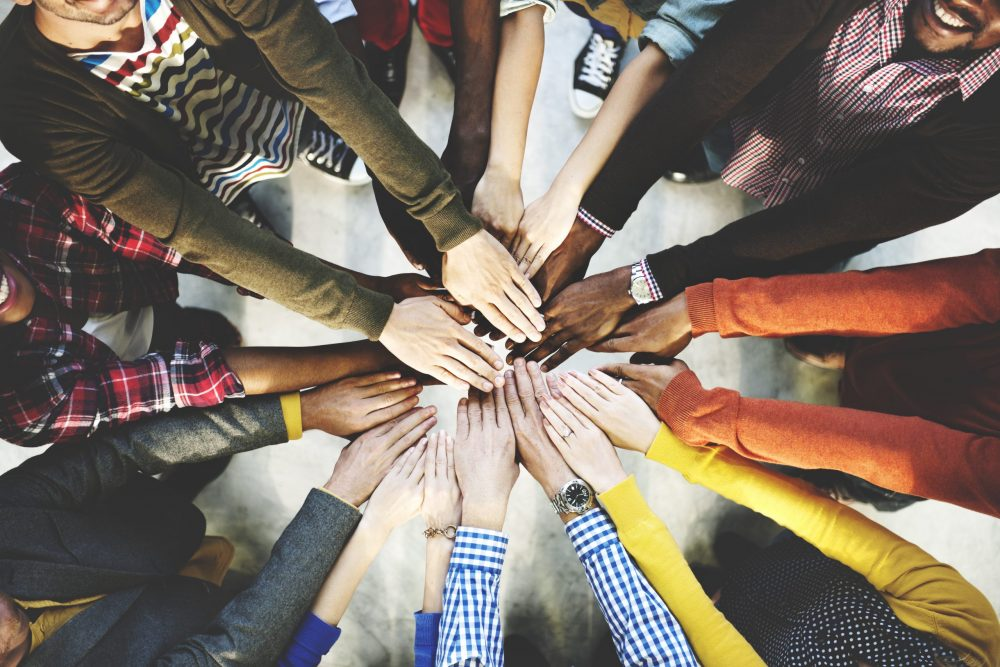 Group,Of,Diverse,Hands,Together,Joining,Concept